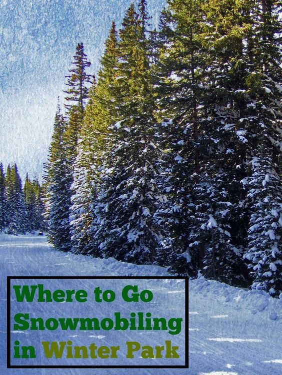 Photo of Snowmobiling in Winter Park, Colorado