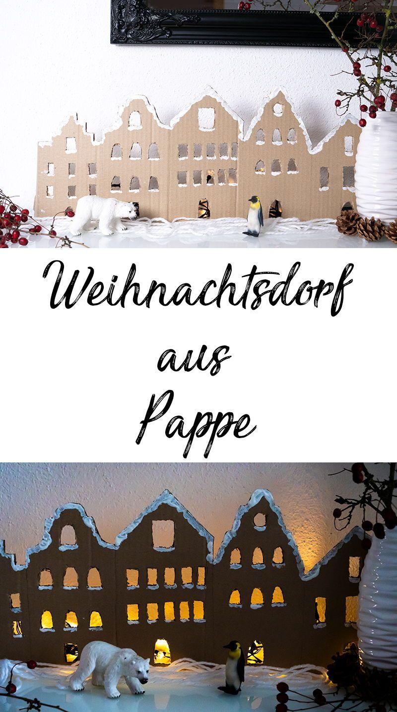 Weihnachtsdeko Weihnachtsdorf.Weihnachtsdeko Mit Lichterketten Basteln 4 Zauberhafte Ideen