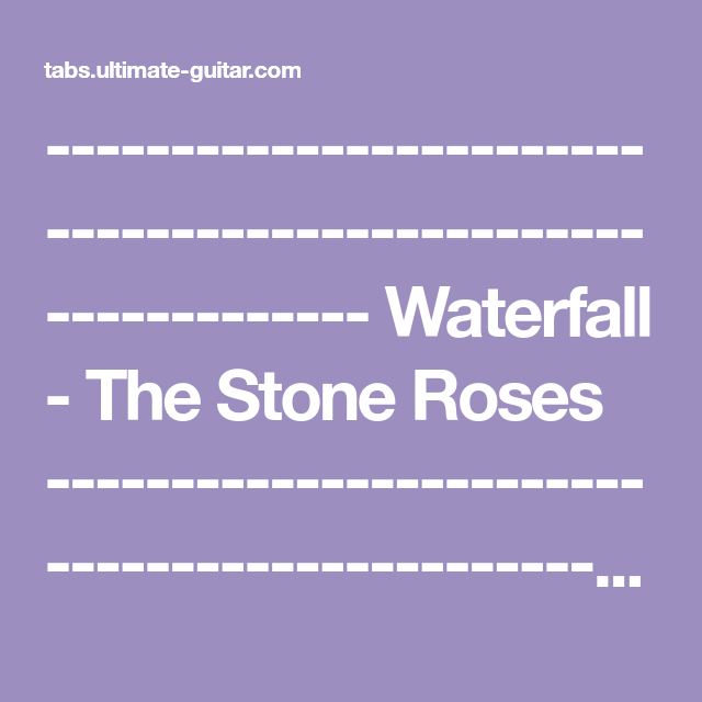 The Stone Roses - Waterfall (Chords)