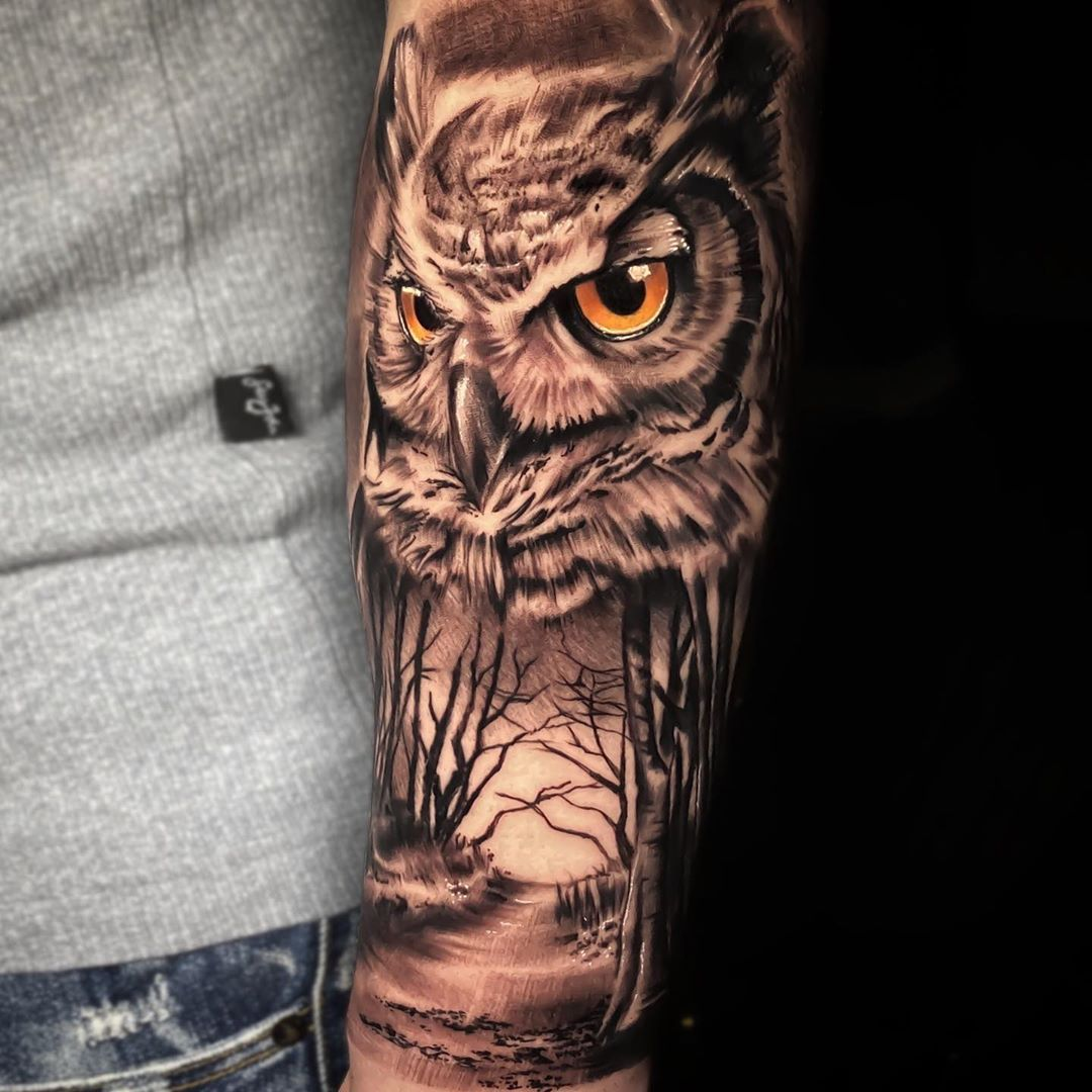Owl Artist drewstattoosnyc