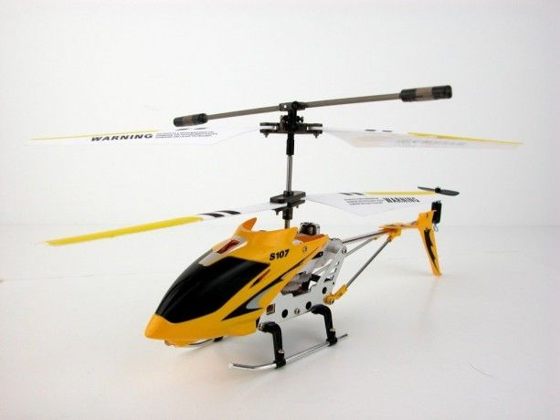 S107G 3 Channels Mini Indoor Co-Axial Metal RC Helicopter - WTF?! Yes!
