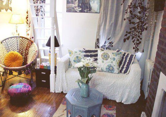 Faye S Tiny New York Bohemian Studio House Call Apartment Therapy