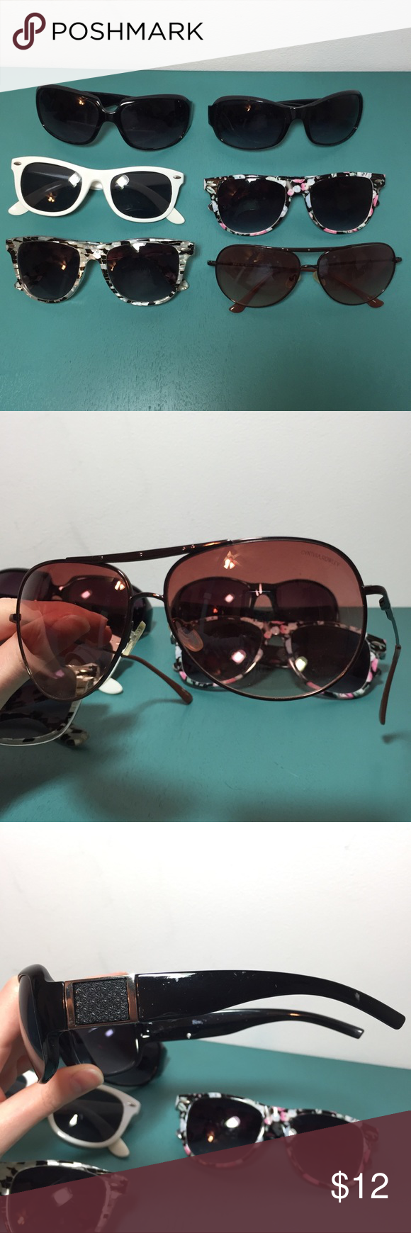 5c916149ea8 Lot of Six Pairs of Sunglasses Lot of six unique pairs of sunglasses.  Cynthia Rowley