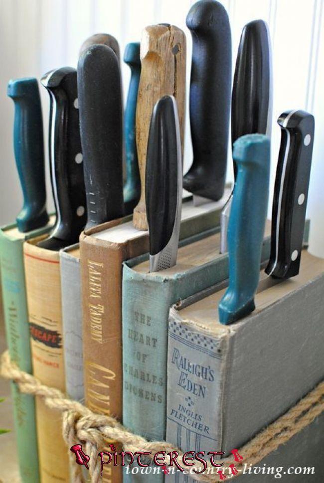 Photo of DIY Messerhalter von Vintage Books #Bookers #Messerhalter #Vintage | Diy knife, …