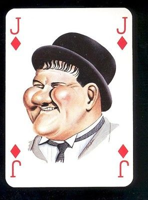 Oliver Hardy Movie Film Star Caricature Playing Card