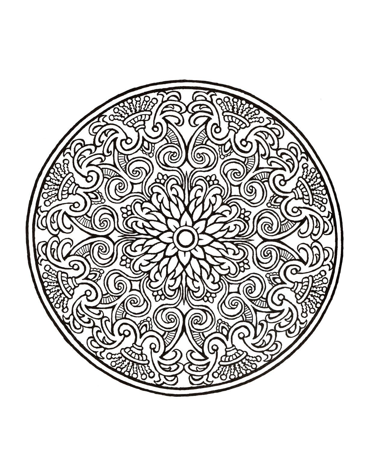 Mystical Mandala Coloring Book | Dover Coloring | Pinterest ...