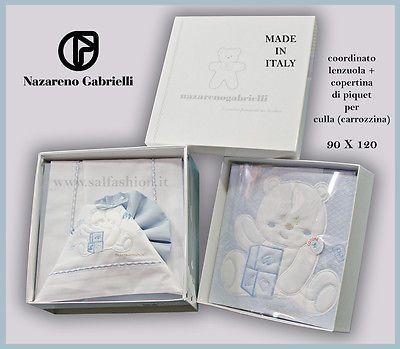 1829f4a77c Completo lenzuola+copertina per culla (carrozzina) Nazareno Gabrielli  art.463/02
