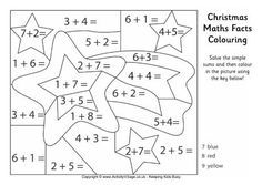 Christmas Maths Facts Colouring Page Christmas Math Math Facts Math Pages