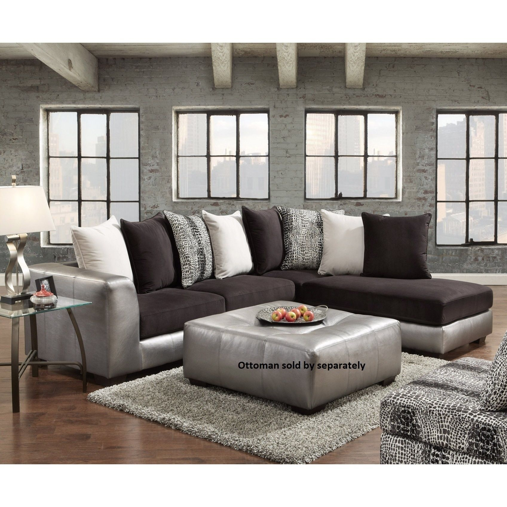 Astonishing Shimmer Pewter Microfiber Silver Grey Sectional Sofa Silver Beatyapartments Chair Design Images Beatyapartmentscom