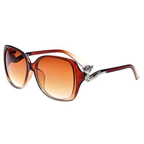 954ddb91c04 Amazon.com  OLAOU Sunglasses Shop Classic Retro Style Sunglasses Oversized  Fox Head Frame