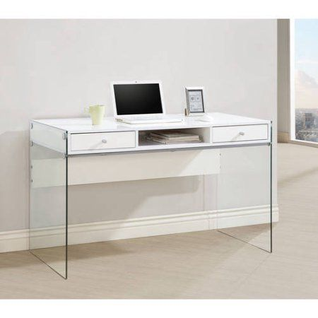 Coaster Contemporary Writing Desk Multiple Finishes White Computer Desk White Writing Desk Modern Computer Desk