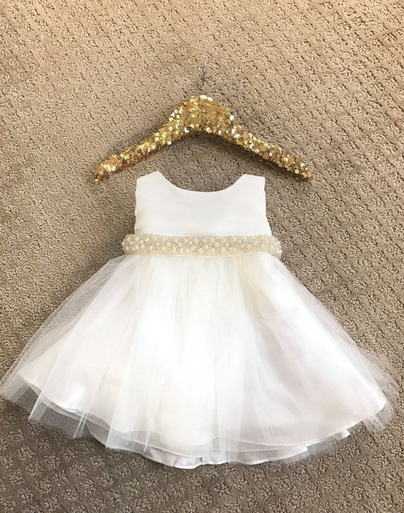 4ee642acf Baby Girl Christening Dress Baby Baptism Dress White baby