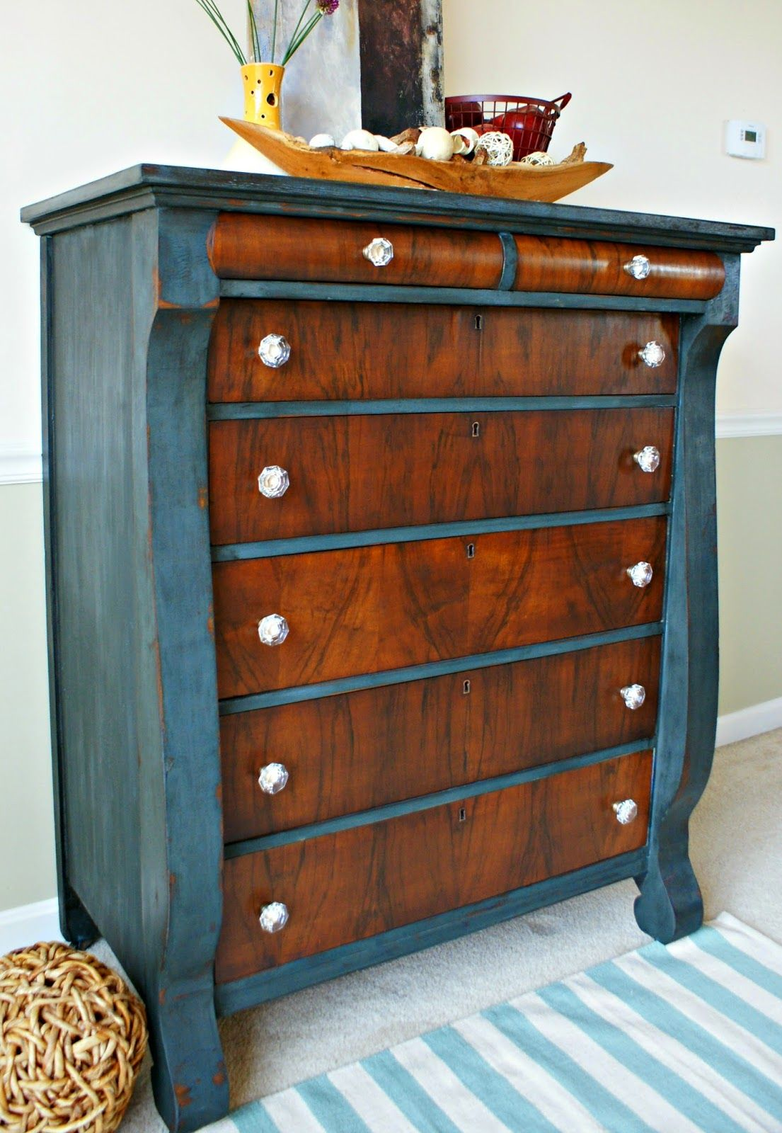 how to refinish a dresser with stain