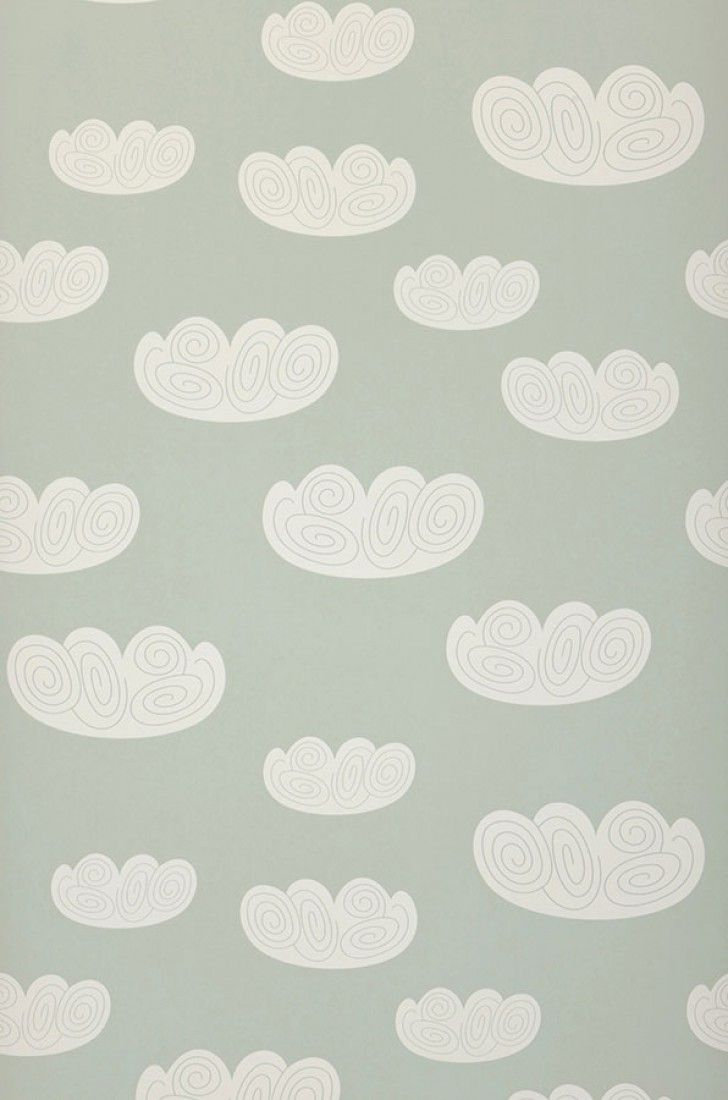 Cloud | Papel de parede infantil | Padrões de papel de parede | Papel de parede dos anos 70