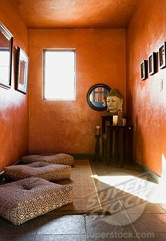 Yoga Meditation Room Ideas I Like The Color Of This And Nice Floor Cusions