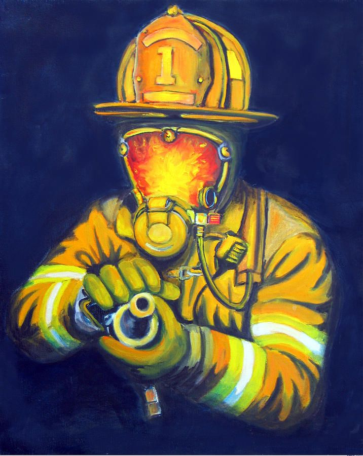 firefighter picture art can easily be turned into a collectible