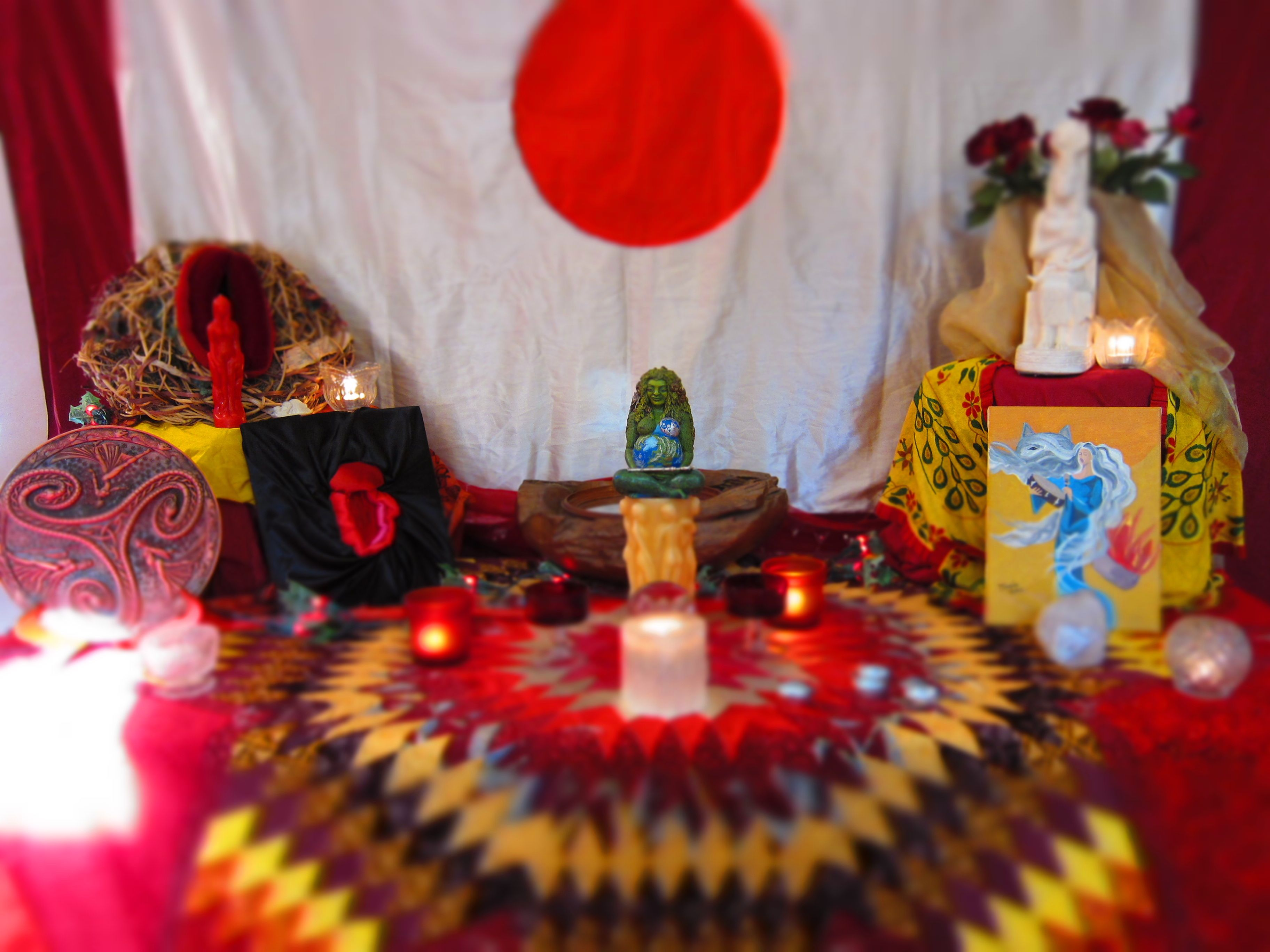 Red Tent Temple at the Women's Belly and Womb Conference, Shutesbury, MA