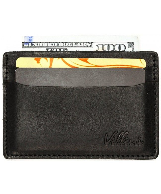 5ec5a072918b Leather Slim Credit Card Holder - Thin Front Pocket Wallet - Compact ...