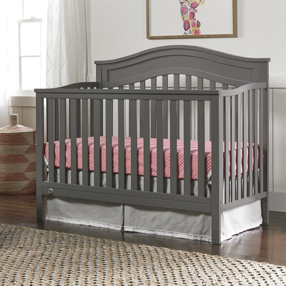 Fisher Price Aubree Convertible Crib In Stormy Grey