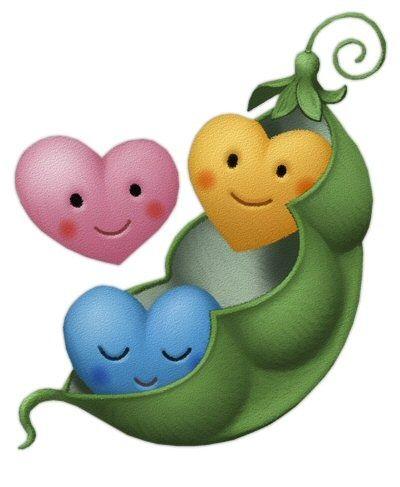 Cute Little Heart Peas In A Pod Clip Art Clip Art Food Clipart