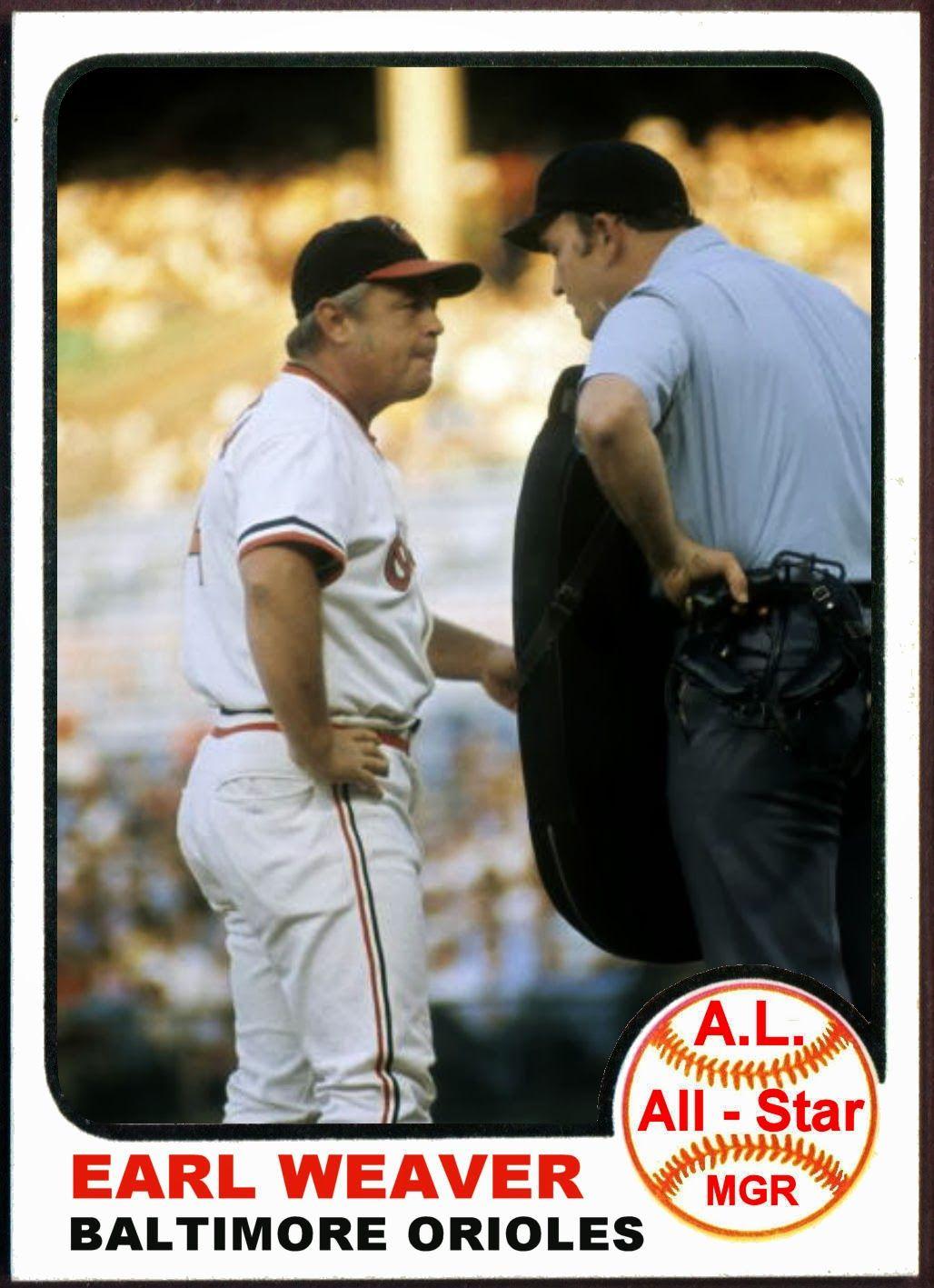 1973 Topps Earl Weaver All-Star. Baseball Cards That Never Were ...