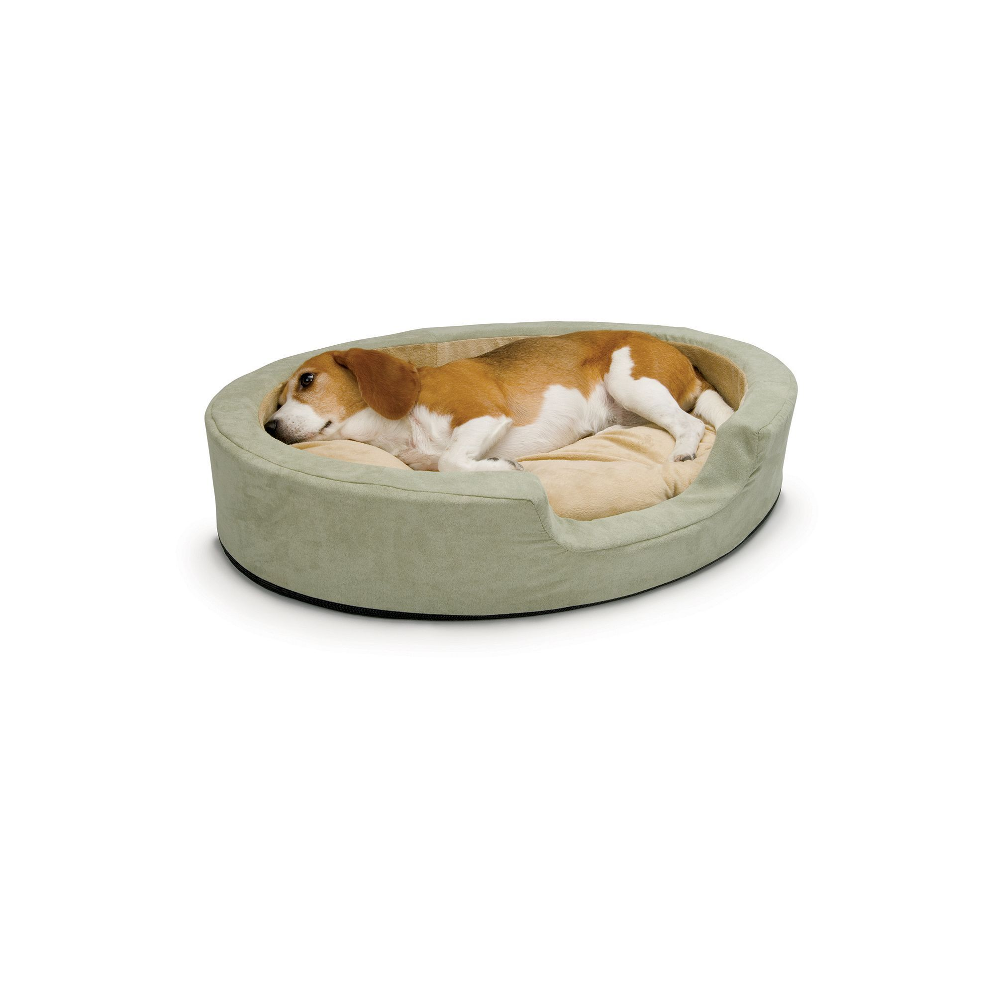 K And H Pet Thermo Snuggly Sleeper Oval Pet Bed 24 X 21