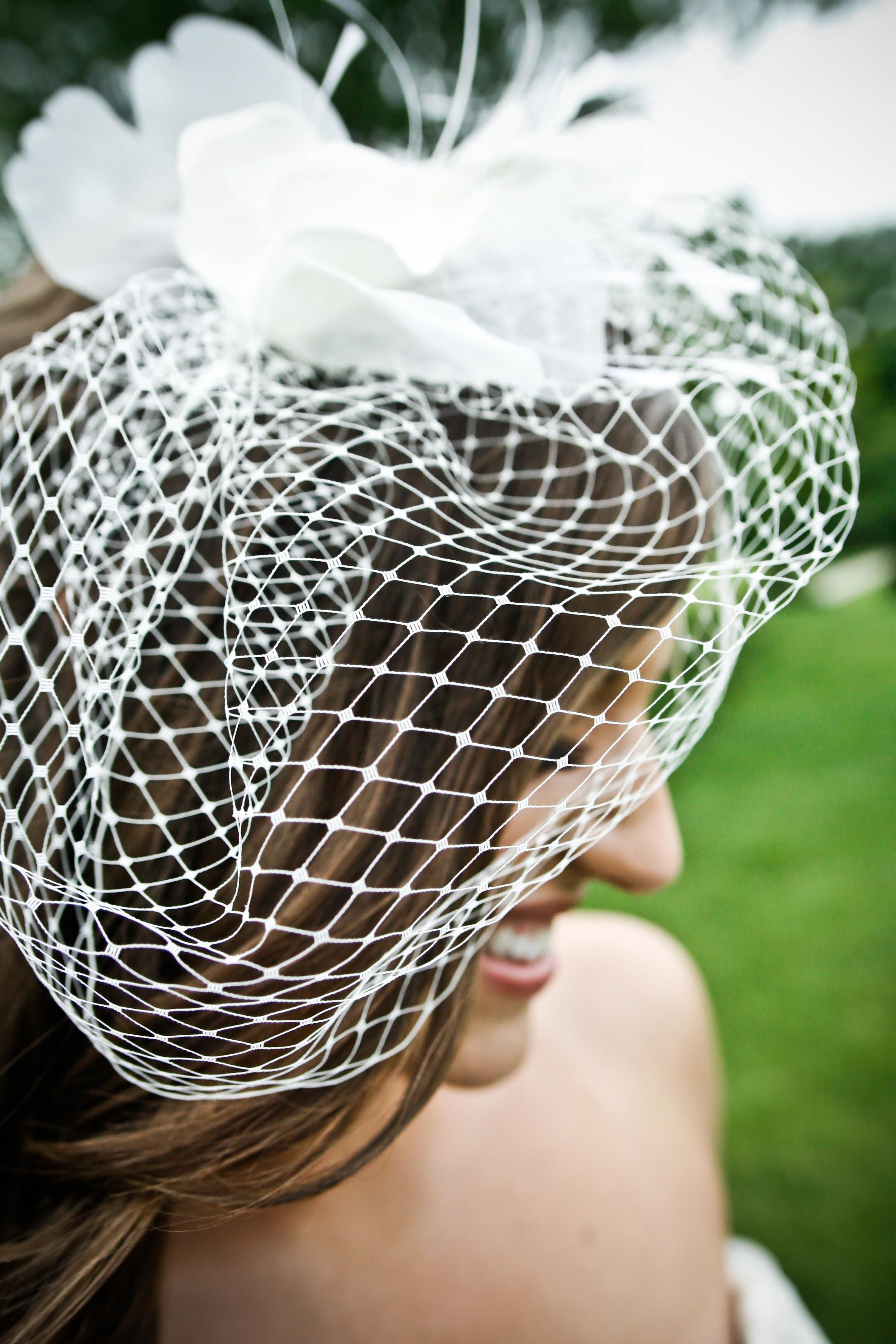 Brittany + Karl - #vintage #veil for the reception.