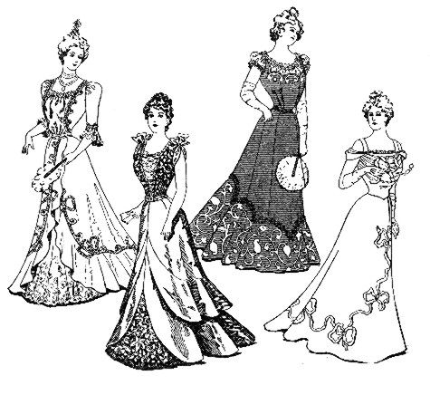 vintage dress coloring pages | victorian coloring pages of women's dress | Vintage ...