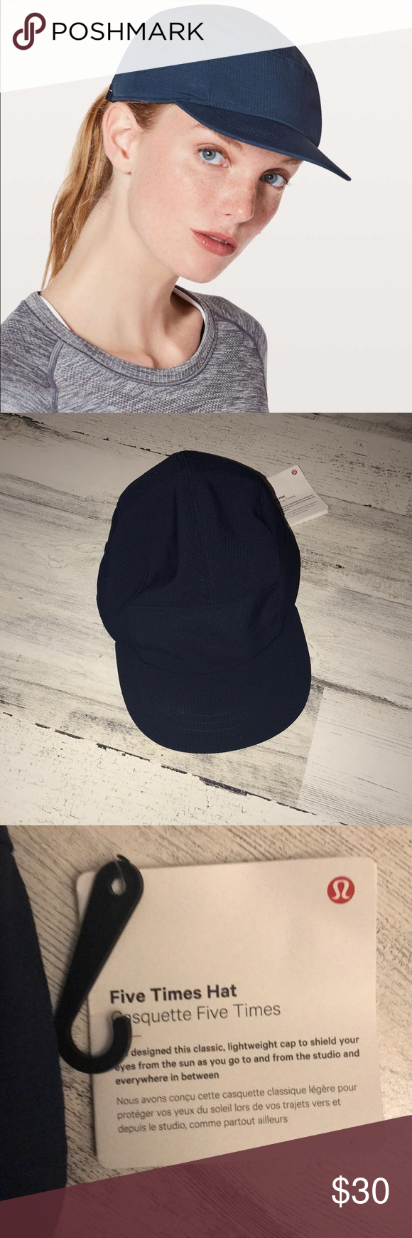 9f886e97 NWT Lululemon Five Times Hat Brand new with tag Lululemon Five Times Hat.  The color code is TRNV. Size O/S lululemon athletica Accessories Hats