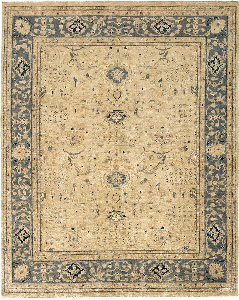 The Peshawar From Due Process Is An Entry Level Carpet From Pakistan With Natural Dyes And Yarns Known For Blue Area Rugs Area Rugs Square Area Rugs