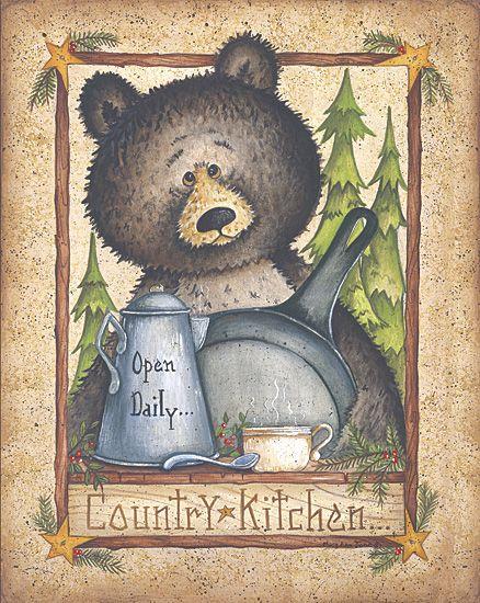 Country Kitchen Bear Bear Art Country Art Bear Decor