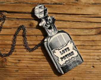 Love Potion Halloween Shrink Plastic Pendant Necklace