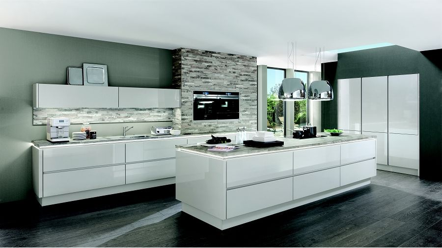 Nobilia Glänzende Perspektiven! Küche Lux 819 Lack, Seidengrau ...