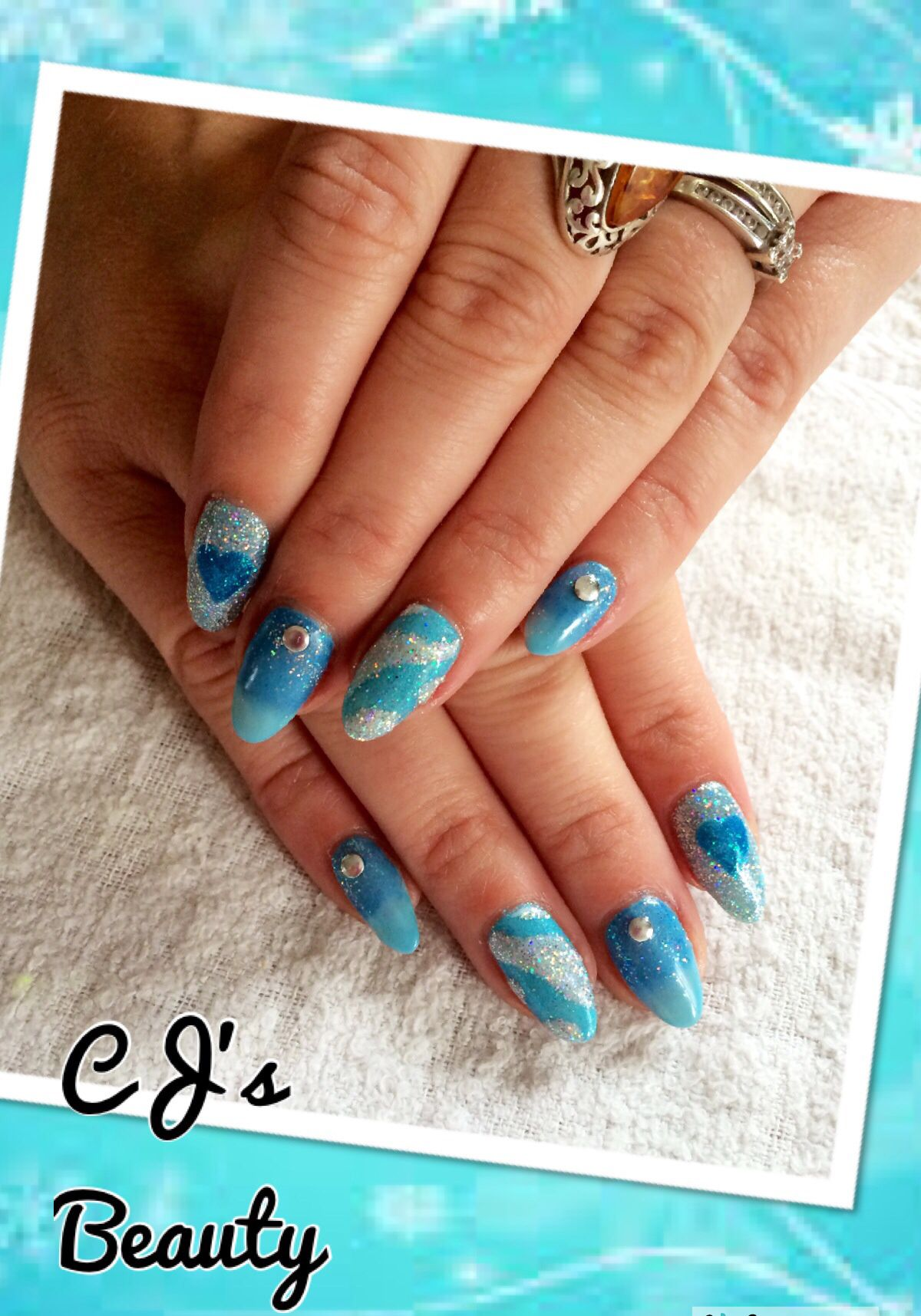 My Disney \' Frozen \' inspired nails as named by my children. I did ...