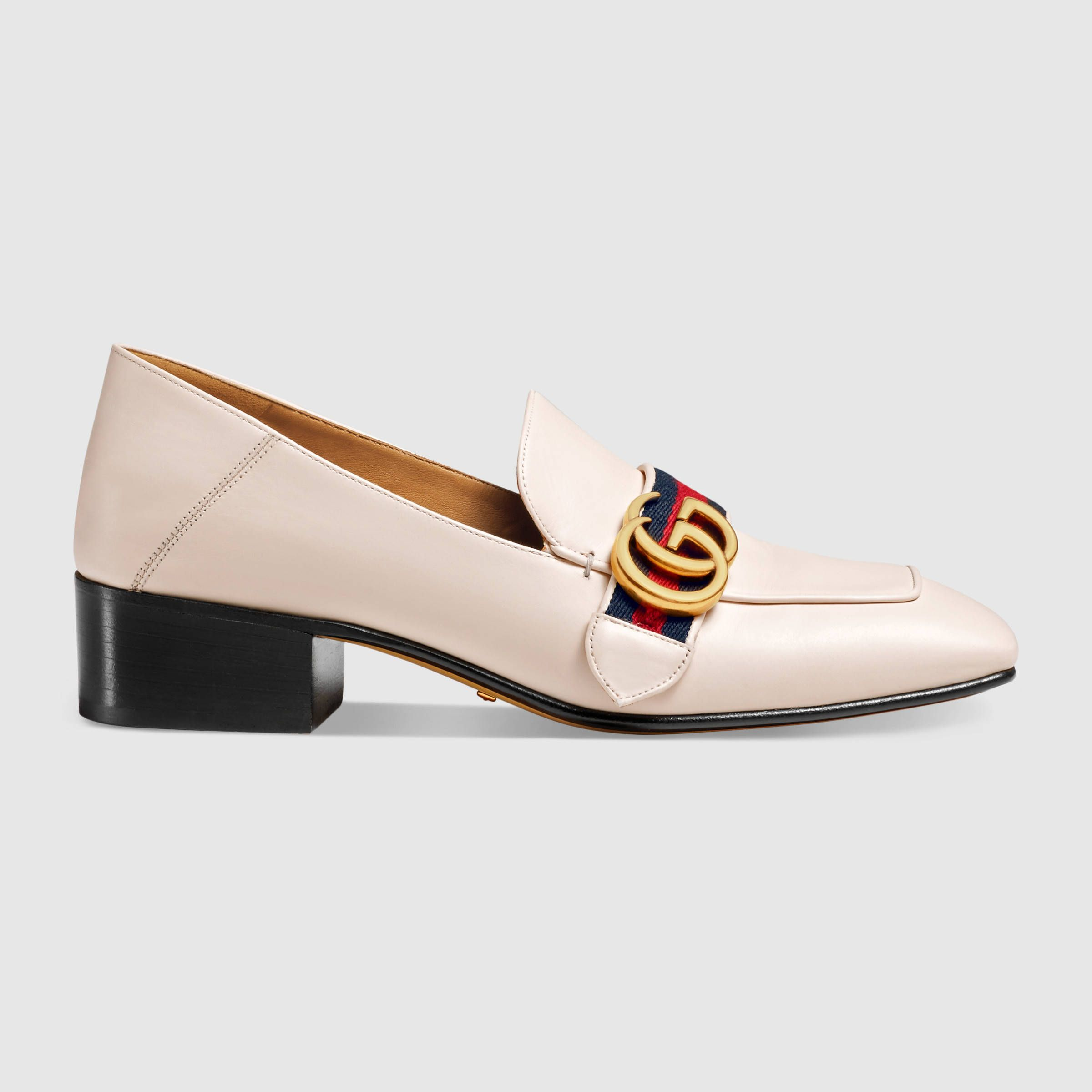 Moccasins for Women | Shop Gucci.com. White Leather ShoesLeather LoafersReal  LeatherLow Heel ...