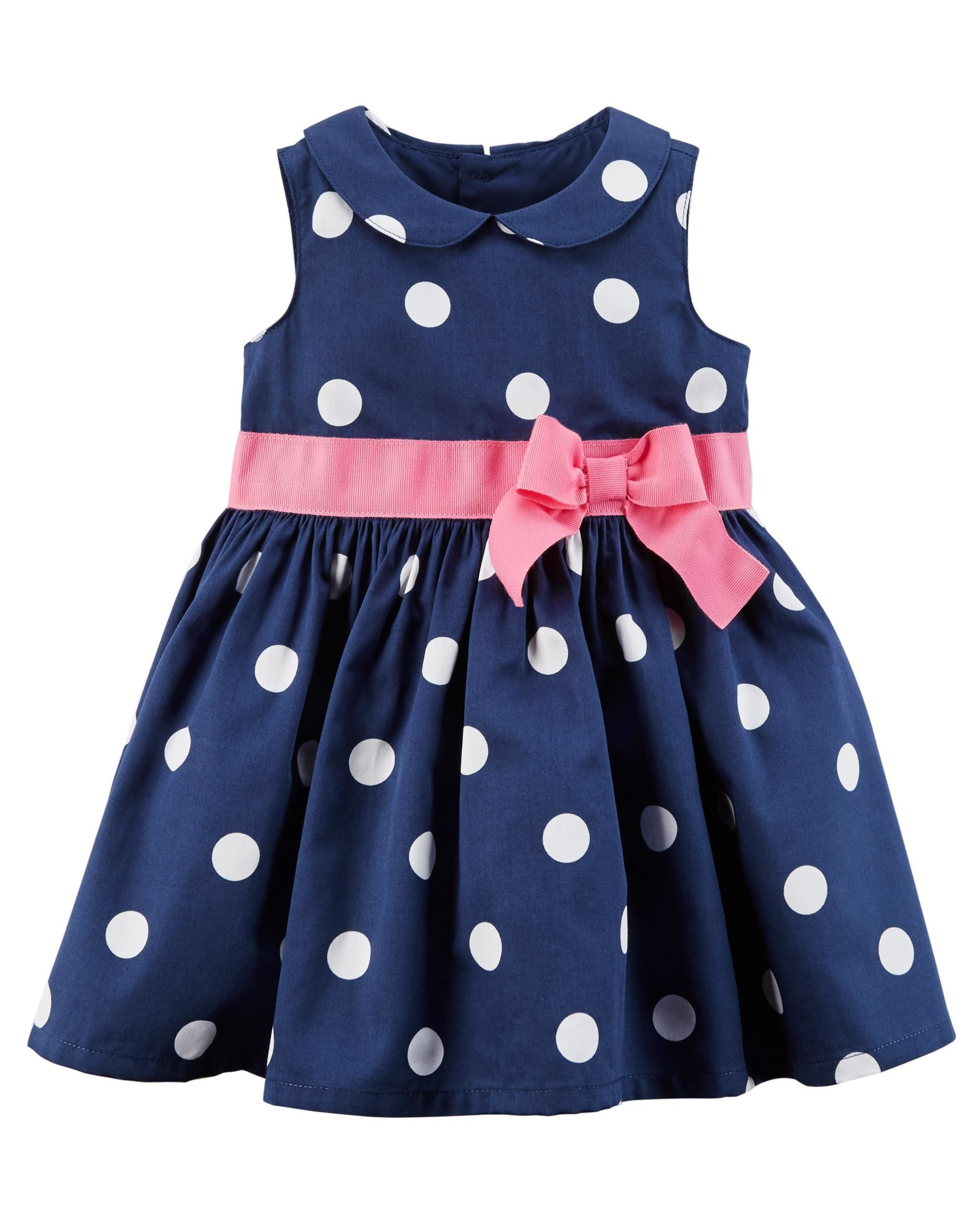 b6d00c56dfb Polka Dot Sateen Dress   Adi Rose Twinkle Toes   Carters baby girl ...