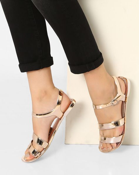Buy STEVE MADDEN Women Rose Gold Haidee Flats with Buckle Closure | AJIO
