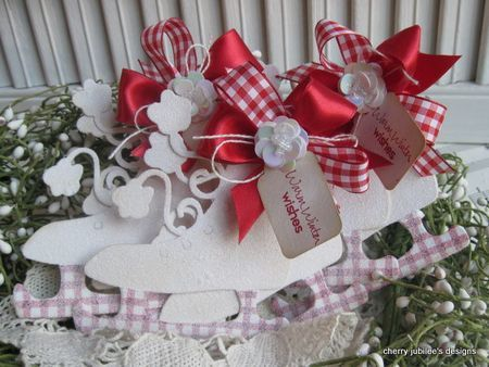 Cherry Nelson - Warm Winter Wishes Ice Skate Tags