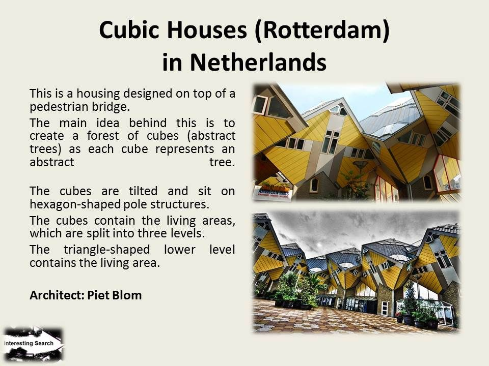 Cubic Houses (Rotterdam)in Netherlands