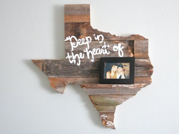 Marvelous Reclaimed Wood Texas Wall Decor 24 With Shelf By Wayneworks, $39.00