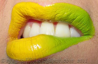 yellow green lipstick - photo #47