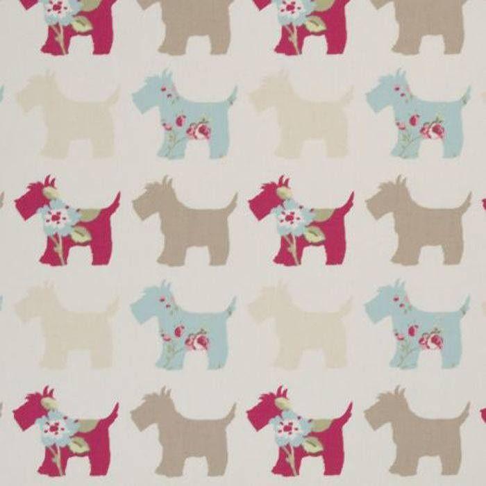 Scottie Dog Fabric By Clarke & Clarke