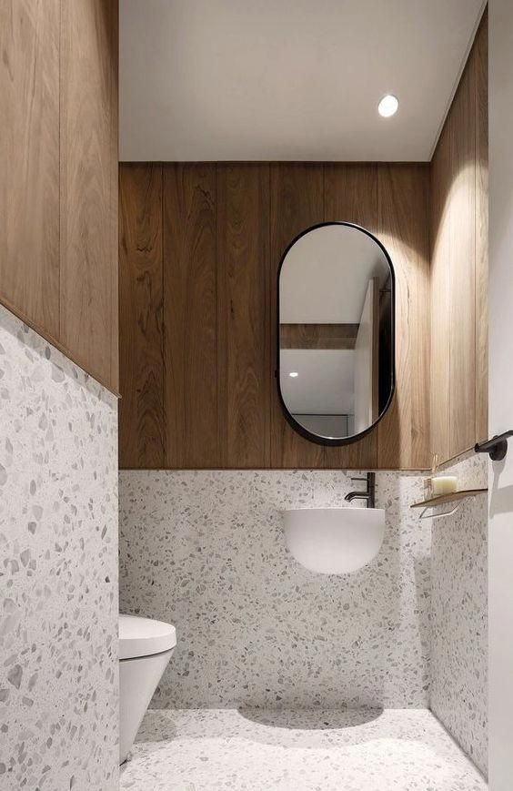 Wc Carrelage Terrazzo Blanc Terrazzobathroom In 2020 Wc Design Bathroom Decor Toilet Design