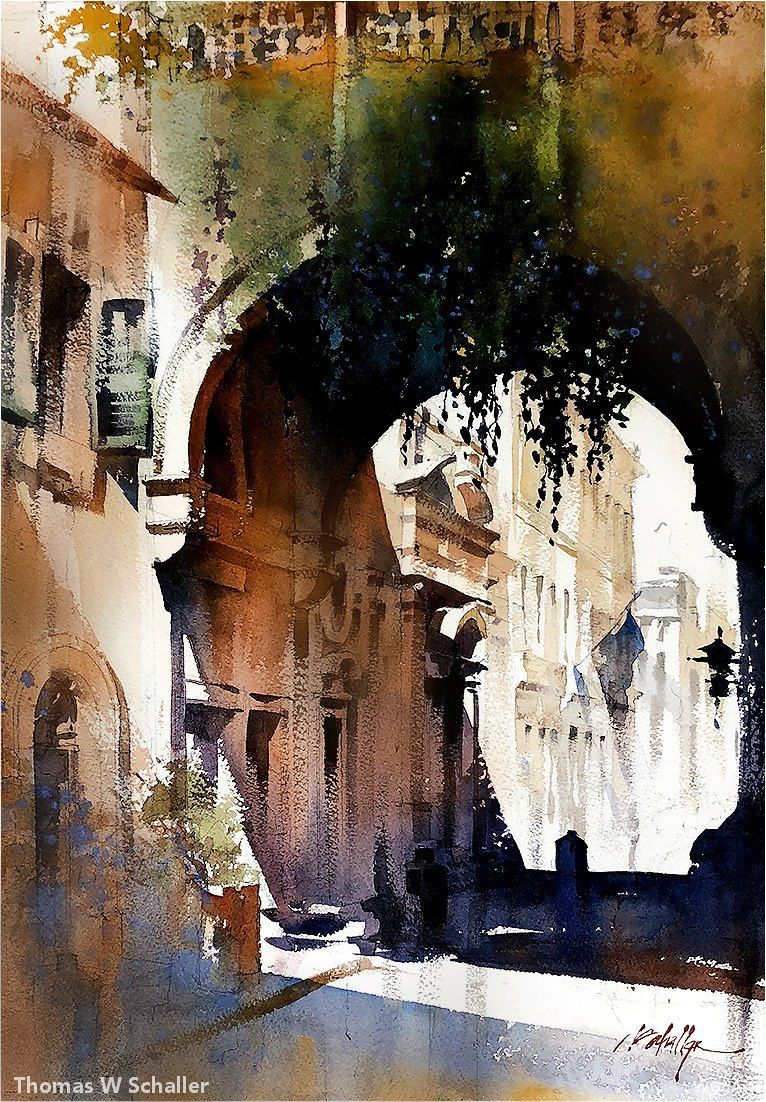 43 Sublime Watercolor Paintings By American Artist Thomas W