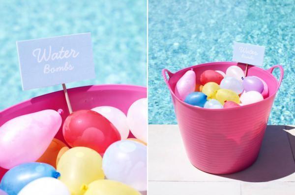 Juegos con agua para una fiesta en la piscina for Ideas para cumpleanos en piscina