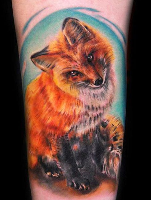 Fox Tattoo By Max Pniewski Fox Tattoo Animal Tattoo Cute Animal Tattoos