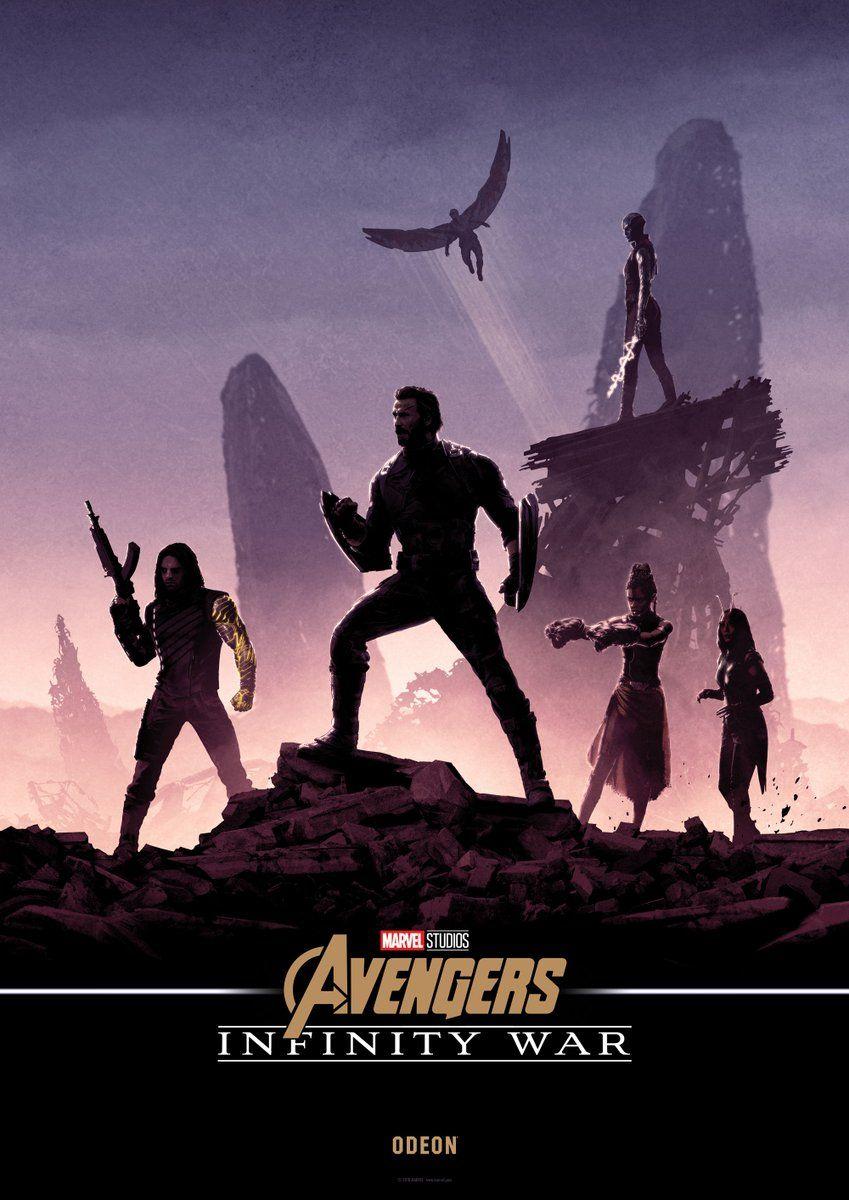 British Cinema Chain Odeon Released New Infinity War Posters By Matt Ferguson Bucky Captain America Falcon N Marvel Posters Avengers Avengers Infinity War