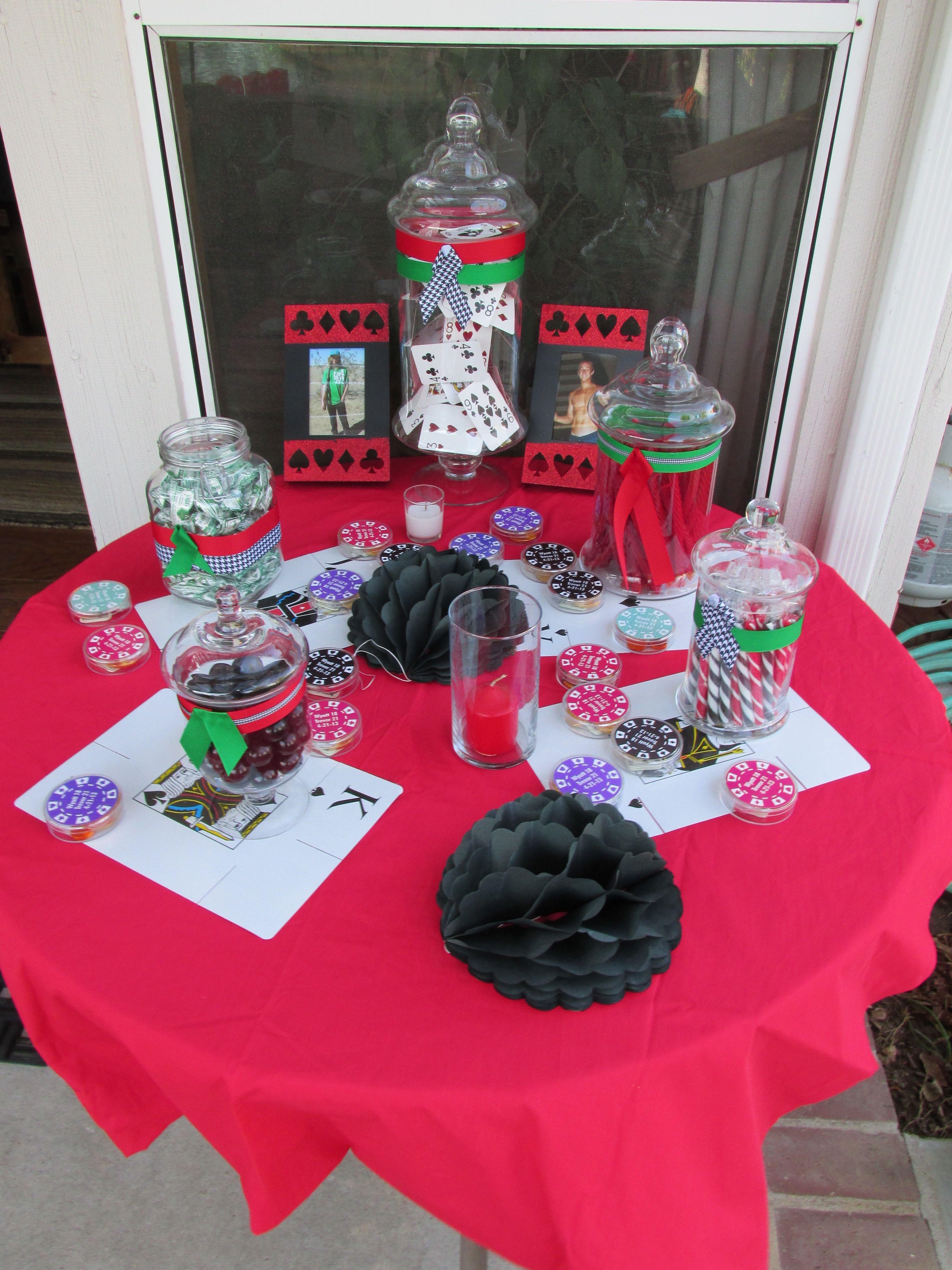 Poker decor poker party ideas pinterest poker party for Decoration poker