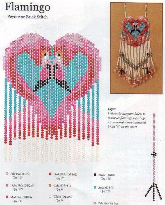 Звери из бисера схема плетения карандаш