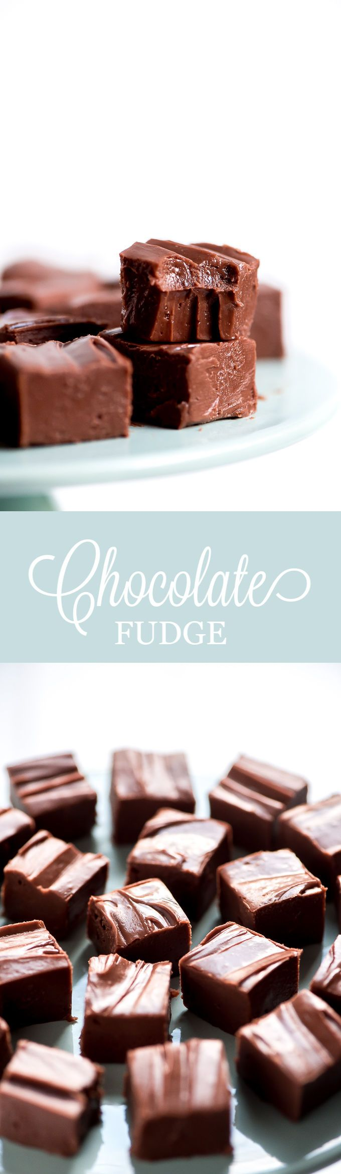 This Easy Chocolate Fudge is so creamy and smooth. Slice it into little squares and package it up for a deliciously sweet holiday gift. #chocolate #fudge #christmastreats #christmasgifts #valentinesday   GarnishandGlaze.com
